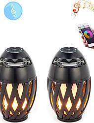 Недорогие -2 шт. 5 Вт 3000 лм 60 светодиодные лампы пламени шарики bluetooth динамик новый дизайн прохладный светодиодный свет этапа / прожектор теплый желтый 5 В коммерческий этап дома / дома ночной свет /