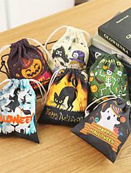 Недорогие -милые смешные ведьмы конфеты сумка хэллоуин подарочные пакеты праздничные атрибуты трюк или лечить мешок положительный стенд для хранения для детей