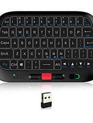 Недорогие -Rii i5 Беспроводная 2.4GHz Клавиатура Air Mouse Minii Mini с сенсорной панелью Белый с подсветкой 63 pcs Ключи