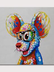 Недорогие -Hang-роспись маслом Ручная роспись - Животные Поп-арт Modern Включите внутренний каркас