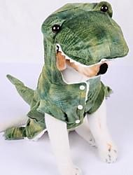 Недорогие -Собаки Инвентарь Одежда для собак Животное Зеленый Полиэстер Костюм Назначение Зима Праздник Хэллоуин