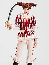 abordables -Burlesques Pantalon Costume de Cosplay Tenue Costume de Soirée Adulte Femme Cosplay Halloween Halloween Fête / Célébration Tulle Polyester Rouge Femme Déguisement Carnaval / Haut / Tour de Cou
