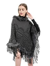 Недорогие -Жен. Активный / Классический Прямоугольный платок Однотонный / Цветочный принт