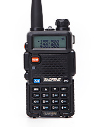 Недорогие -baofeng uv-5r 5 км-10 км 1800 мАч 5 Вт рация двусторонняя радиостанция FM-радио ЖК-дисплей со вспышкой в диапазоне частот 136–174 МГц 400–470 МГц