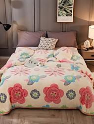 Недорогие -Диван Бросай / Детские одеяла / Многофункциональные одеяла, Мультипликация / Цветочные ботанический Фланель Флис / Полиэстер Мягкость удобный одеяла