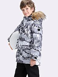 billige -Gutt Jente Skijakke Vanntett Varm Anvendelig Ski Camping & Fjellvandring Vintersport polyster Joggedress Varme topper Skiklær