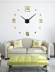 Недорогие -м. искристый 3d настоящий большой настенные часы бросился зеркало стикер стены гостиной домашнего декора модные часы кварцевые настенные часы