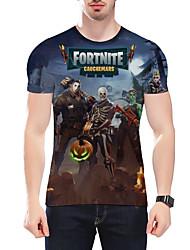 Недорогие -Вдохновлен Fortnite Косплей видео Игра Косплэй костюмы Косплей футболка Мода Длинный рукав Футболка костюмы