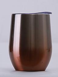 Недорогие -изолированный стакан для вина с крышкой из нержавеющей стали без бокалов для вина с двойными стенками вакуумный изолированный стакан для путешествий для кофе, напитков, шампанского, коктейлей, 12