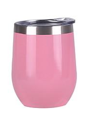 billige -12 oz vinbeholder, dobbeltvakuumisolert vinglass med lokk for å holde vin, kaffe, drikke, champagne, cocktails-familie og forretningsgave