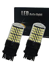 povoljno -2pcs / lot canbus t25 3156 p27w 3157 p27 / 7w 144smd 4014 vodio automobilsku žarulju automobil drl pokazivač svjetla kočnica svjetlosni zazor vodio bijelo žuto žuto 12v-24v
