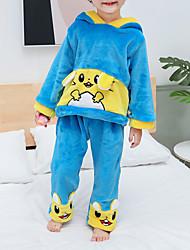 Недорогие -2шт малыш Мальчики Тигр Пэчворк Животная расцветка / Пэчворк / Классический Пижамы Синий