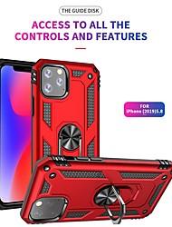 Недорогие -Роскошные доспехи мягкий противоударный чехол для iphone 11 pro / iphone 11 силиконовый чехол бампер ТПУ для iphone 11 pro max автомобиль металлический магнитный палец кольцо крышка