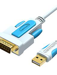 Недорогие -Изобретение USB-DB9 RS232 последовательный кабель-адаптер USB-COM-порт DB9-контактный кабель RS232 для Windows 7 8 10 XP Mac OS X Принтер светодиодный Pos 1 м