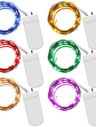 Недорогие -6 шт. 3 м 30 светодиодов гирлянды декоративный свет медной проволоки cr2032 на батарейках рождественская свадьба украшения светодиодные строки гирлянды