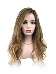 Недорогие -Парики из искусственных волос Кудрявый Волнистый Стиль Боковая часть Машинное плетение Без шапочки-основы Парик Льняной Искусственные волосы 26 дюймовый Жен. Для вечеринок Классический синтетический