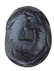 Недорогие -Муж. / Универсальные человеческие волосы Remy Накладки для мужчин Волнистый Моноволокно / 100% ручная работа Кожаные волосы / Природные волосы / вьющийся