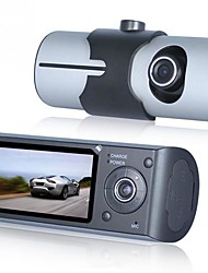 Недорогие -Автомобильный видеорегистратор с двумя камерами и GPS-навигатором с GPS и 3D-сенсором 2,7 TFT ЖК-камера X3000 Видеокамера с цикличной записью цифрового зума