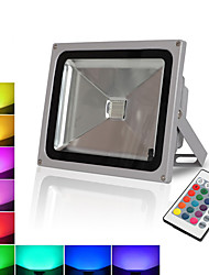 Недорогие -RGB проекционный свет 30 Вт фут-плитка пульт дистанционного управления цвет открытый водонепроницаемый рюкзак модель красочные светодиодные прожекторы