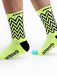 Недорогие -Компрессионные носки Спортивные носки / спортивные носки Носки для велоспорта Муж. Жен. Велосипедный спорт / Велоспорт Велоспорт Воздухопроницаемость Пригодно для носки Эластичный 1 пара / Спандекс