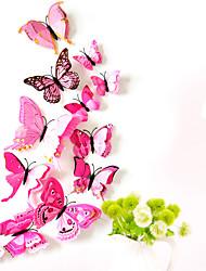 billige -dyr dobbeltlags vegg klistremerker 3d vegg klistremerker dekorative vegg klistremerker lys bryter klistremerker kjøleskap klistremerker bryllup klistremerker PVC hjemme - rosa