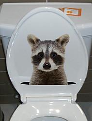 billige -søte dyr toalett klistremerker - kjøleskap vegg klistremerker dyr stue / soverom / kjøkken