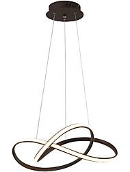 Недорогие -нордическая современная светодиодная люстра алюминиевая столовая лампа в форме люстры столовая творческая личность художественное исследование свет