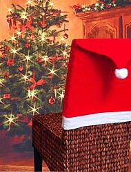 Недорогие -рождественские украшения статьи нетканые ткани рождественские чехлы на стулья ресторан отель чехлы на стулья шляпа крышка