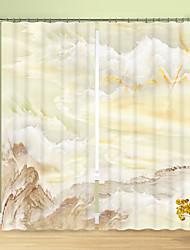 Недорогие -горный цифровой печатный 3-й занавес затенение занавес на мраморные узоры высокая точность черный шелк ткань высокого качества первоклассный затенение спальня гостиная занавес