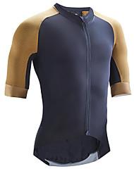 cheap -21Grams Men's Cycling Jersey Short Sleeve - Summer Spandex Yellow Dark Navy Black Patchwork Funny Bike Mountain Bike MTB Road Bike Cycling Top Quick Dry Moisture Wicking Sports Clothing Apparel