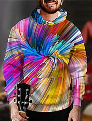 cheap -Men's Unisex Rainbow Graphic Pullover Hoodie Sweatshirt Print 3D Print Daily Sports Casual Designer Hoodies Sweatshirts  Rainbow