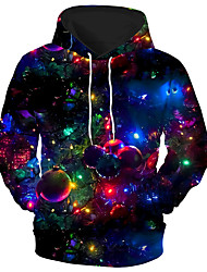 cheap -Men's Unisex Graphic Prints bulb Pullover Hoodie Sweatshirt Print 3D Print Daily Sports Casual Designer Hoodies Sweatshirts  Blue