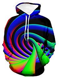 cheap -Men's Unisex Graphic Prints Spiral Pullover Hoodie Sweatshirt Print 3D Print Daily Sports Casual Designer Hoodies Sweatshirts  Blue Purple Yellow