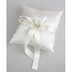 cheap Wedding Ceremony-Faux Pearl Satin Rayon Ring Pillow Garden Theme Winter Spring Summer Fall