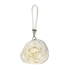 baratos Acessórios para Festas-Mulheres Bolsas Cetim Bolsa de Festa Flor para Casamento Todas as Estações Preto Bege Cinzento Rosa claro Ivory