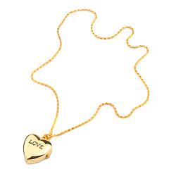 Pentru femei Ceas La Modă Ceas colier Ceas Breloc Quartz Bandă Heart Shape Auriu