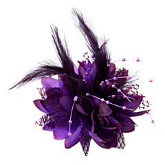 cheap Party Headpieces-Crystal Feather Fabric Cotton Tiaras Fascinators Flowers 1 Wedding Special Occasion Party / Evening Headpiece