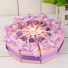 tanie Pudełka na ciasta i torty-box slice ciasto z kwiatów bzu i łuki (zestaw 10)