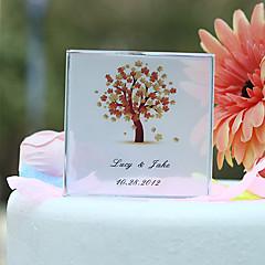 billige Kakedekorasjoner-personlig høst tre print bryllupskake topper