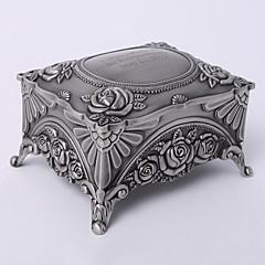 personlig vintage tutania rektangel delikat smykker boks elegant stil