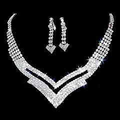 """billige Smykke Sett-nydelig rhinestone to stykke cutout """"v"""" design damenes smykker sett (45 cm)"""