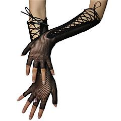 Nylon Ellebooglengte Handschoen Bruidshandschoenen Feest/uitgaanshandschoenen