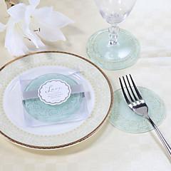 billige -utsøkt blonder og frostet glass coasters (sett med 2)