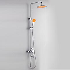 krómozott modern stílusban zuhanyzó csaptelepek átmérője 24cm zuhanyfej + kézi zuhany