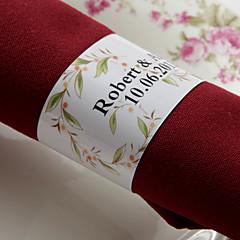 gepersonaliseerde papieren servetring - lieve bloem (set van 50) huwelijksreceptie