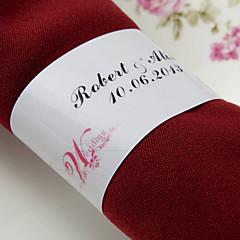 gepersonaliseerde papieren servetring - jurk (set van 50) huwelijksreceptie