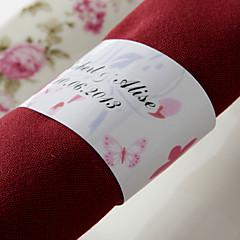 gepersonaliseerde papieren servetring - lentebloem (set van 50) huwelijksreceptie