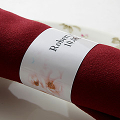 gepersonaliseerde papieren servetring - mooie bloemen (set van 50) huwelijksreceptie