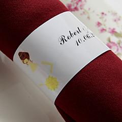 gepersonaliseerde papieren servetring - bruid (set van 50) huwelijksreceptie