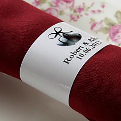 gepersonaliseerde papieren servetring - liefde (set van 50) huwelijksreceptie